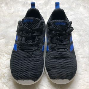 Adidas Lite Racer Sneakers Black & Blue Size 9